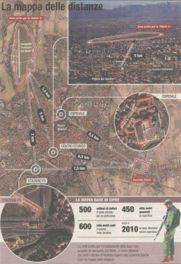 La falsa mappa delle distanze (sdoppiate!) pubblicata dal Corriere del Veneto il 3 febbraio 2007