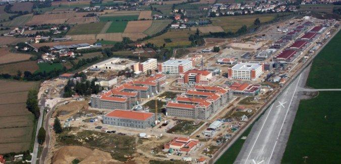 Lavori in corso per la costruzione della Base Dal Molin