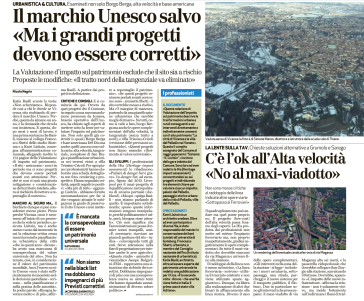 Giornale di Vicenza, 20 gennaio 2017. (pagina 1)