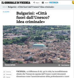 Il Giornale di Vicenza web, 22 dicembre 2016